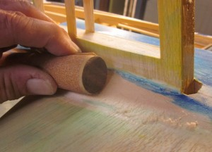 PT-19-102    …switch over to a contoured sanding tool and sneak up on just the right cross section/profile.